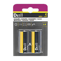 Diall Alkaline C Batteries 2 Pack
