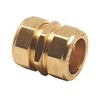 Pegler PX40 Brass Compression Equal Couplers 15mm 5 Pack