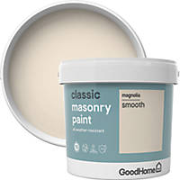 GoodHome Smooth Masonry Paint Magnolia 5Ltr