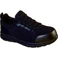 Skechers Synergy Omat   Safety Trainers Black Size 8