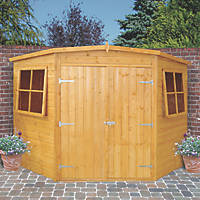 Shire 8' x 8' (Nominal) Pent Shiplap T&G Timber Corner Shed