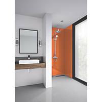 Splashwall Bathroom Splashback Gloss Orange 900 x 2420 x 4mm