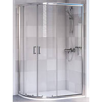 Aqualux Offset Quadrant Shower Enclosure & Tray Left-Hand 1000 x 800 x 1900mm