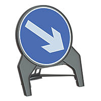 "Melba Swintex Q Sign Round ""Arrow Right"" Traffic Sign 864 x 1072mm"