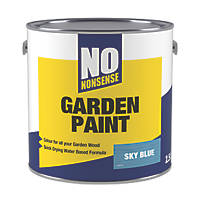 No Nonsense Garden Colour Wood Paint Semi-Matt Sky Blue 2.5Ltr