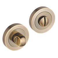 Smith & Locke Standard Thumbturn Set Antique Brass 50mm