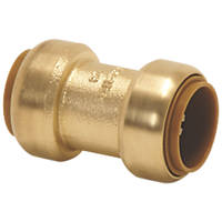 Tectite Classic  Brass Push-Fit Equal Coupler 15mm
