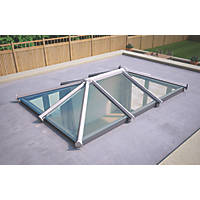 ATT Fabrications Ltd Clear Glass Roof Lantern White 3000 x 2000mm