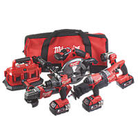 Milwaukee M18FPP6B-503B FUEL 18V 5.0Ah Li-Ion RedLithium Cordless 6 Piece Kit