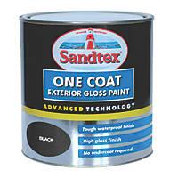 Sandtex One Coat Exterior Gloss Paint Black 2.5Ltr