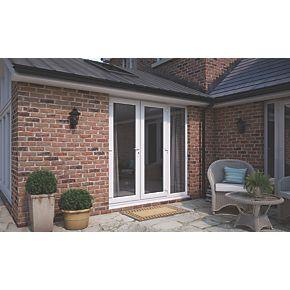 Att upvc french doors sidelight white 2090 x 2090mm for Upvc french doors 1190 x 2090