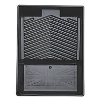 "Harris Trade 9"" Deep Ridge Paint Tray Black"