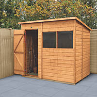Forest Delamere 7' x 5' (Nominal) Pent Shiplap Timber Shed with Base