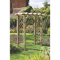 Forest Ultima Pergola Arch Natural Timber 1820 x 1360 x 2450mm