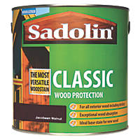 Sadolin Classic Woodstain Matt Jacobean Walnut 2.5Ltr