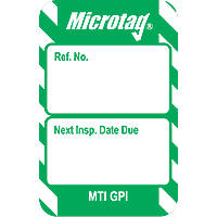 "Scafftag  ""Next Inspection Due Date"" Microtag Inserts 20 Pack"