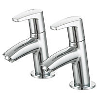 Bristan Orta Basin Pillar Taps Pair