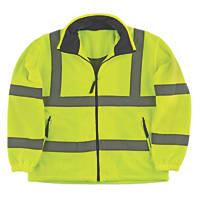 Portwest F300 Hi-Vis Mesh Lined Fleece Yellow / Orange Medium  Chest