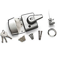 ERA 183-35-1 Double Locking Night Latch  Satin Chrome 40mm Backset