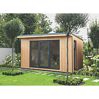 Forest Xtend 13' x 10' Pent Insulated Garden Office with Base & Assembly