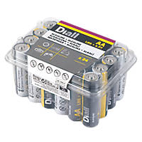 Diall Alkaline AA Batteries 24 Pack