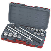 "Teng Tools T3418-6 3/4"" Drive Socket Set 18 Pieces"
