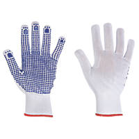 Keep Safe Polka Dot Picking Gloves White/Blue Medium