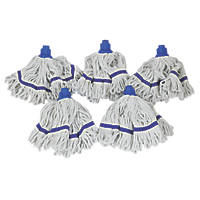 Bentley Blended Mix Yarn Mop Heads Blue 5 Pack