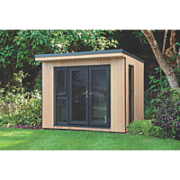 """Forest Xtend+ 9' 6"""" x 8' Pent Insulated Garden Office with Base"""
