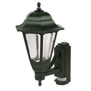asd black bc pir coach lantern wall light pir security. Black Bedroom Furniture Sets. Home Design Ideas
