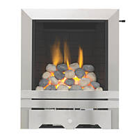Focal Point Lulworth Stainless Steel Slide Control Inset Gas Full Depth Fire