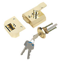 Smith & Locke  Traditional Night Latch Electro Brass 40mm Backset