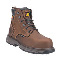 CAT Precision Metal Free  Safety Boots Dark Brown Size 10