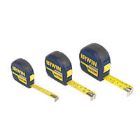 Irwin  Pro Touch Tape Measures 3 Pcs