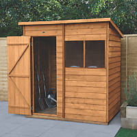 Forest  6' x 4' (Nominal) Pent Overlap Timber Shed with Base & Assembly