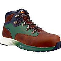 Timberland Pro Euro Hiker Metal Free  Safety Boots Brown/Green Size 6.5