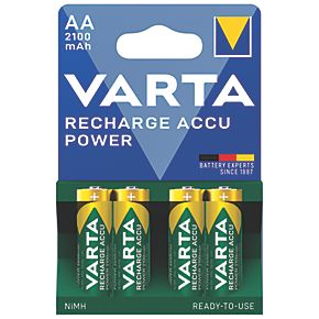 Varta Ready2Use Rechargeable AA Batteries 4 Pack (5180K)