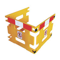 Addgards Handigard 3-Panel Barrier Yellow w/Red & White Stripe