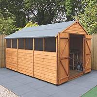 """Forest Delamere 8' x 11' 6"""" (Nominal) Apex Shiplap Timber Shed"""