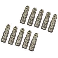 Screwdriver Bits PZ3 x 25mm 10 Pack