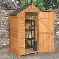 Forest 4' x 3' (Nominal) Apex Overlap Timber Shed with Assembly