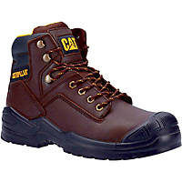 CAT Striver Mid S3   Safety Boots Brown Size 8