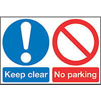 'Keep Clear No Parking' Sign 400 x 600mm