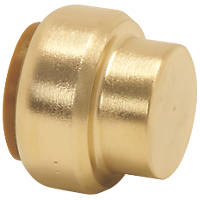 Tectite Classic  Brass Push-Fit Stop End 22mm