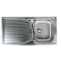 Astracast Alto Kitchen Sink Stainless Steel 1 Bowl 980 x 510mm