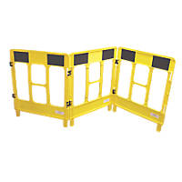 JSP  3-Gate Workgate Barrier Panel Yellow & Black