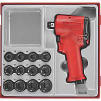 """Teng Tools ½"""" Mini Impact Gun Set 13 Pieces"""