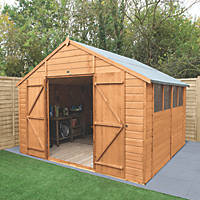 """Forest Delamere 9' 6"""" x 10' (Nominal) Apex Shiplap Timber Shed"""