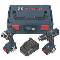 Bosch 0615990H97  18V 2.0Ah Li-Ion Coolpack  Cordless Combi Drill & Impact Driver Twin Pack
