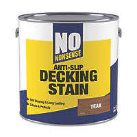 No Nonsense Anti-Slip Quick-Drying Decking Stain Teak 2.5Ltr